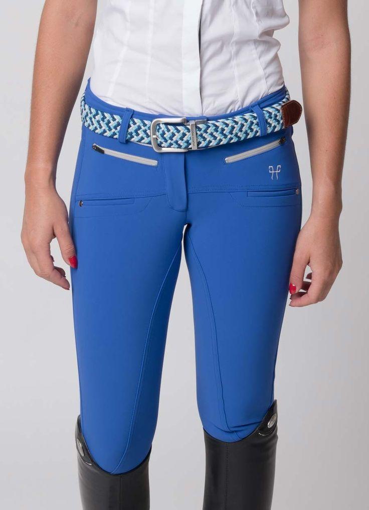 Pantalon d'équitation bleu roi pour femme