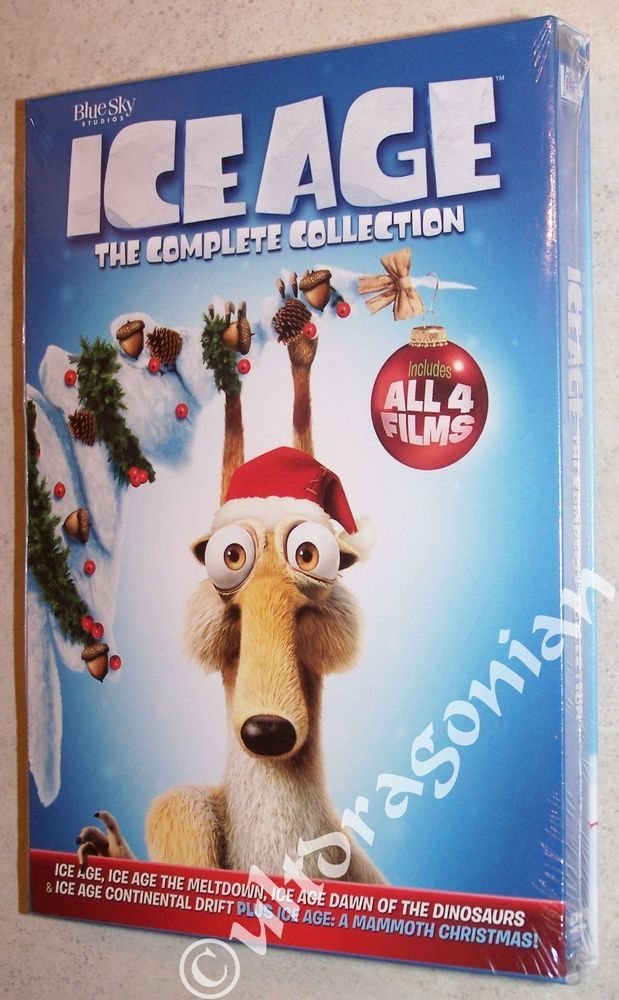 ICE AGE Collection: 1 2 3 4 & A Mammoth Christmas DVD 5-Movie Set - BRAND NEW | Ice age, Movie