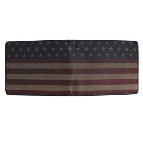 Men's Bi-Fold Wallet American Flag Stripe