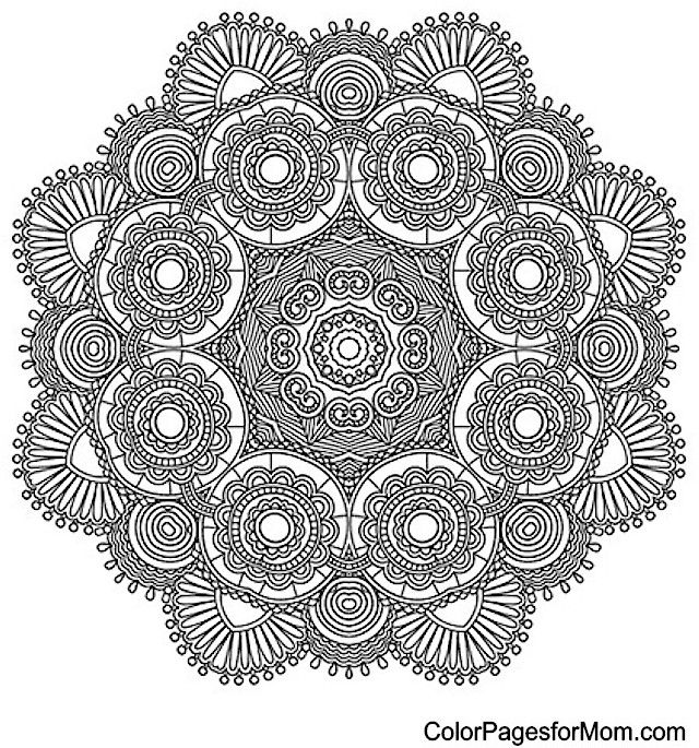 "Mandala Coloring Page 21 | free sample | Join fb grown-up coloring group: ""I Like to Color! How 'Bout You?"" https://m.facebook.com/groups/1639475759652439/?ref=ts&fref=ts"