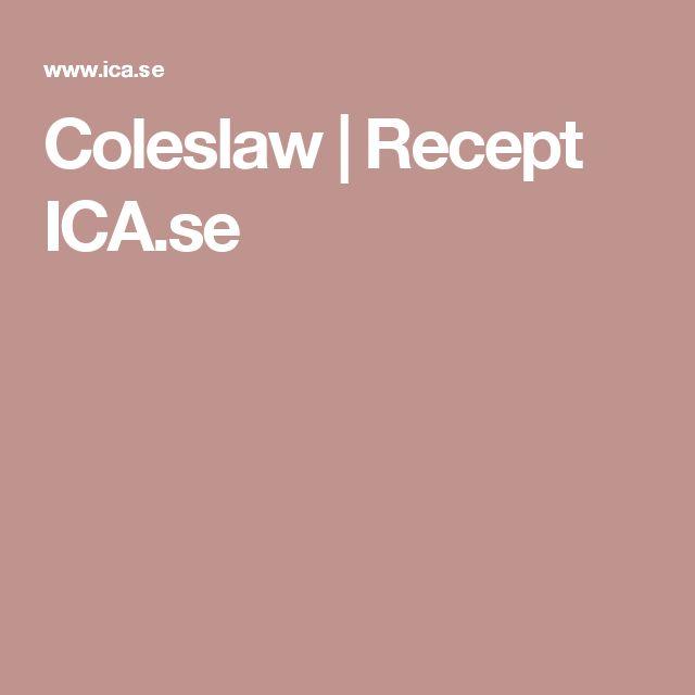 Coleslaw | Recept ICA.se