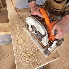How to Cut Straight With a Circular Saw  The Family Handyman editor, Jeff Gorton, will show you how to make perfectly straight cuts with a circular saw. You will use this circular saw jig over and over again.