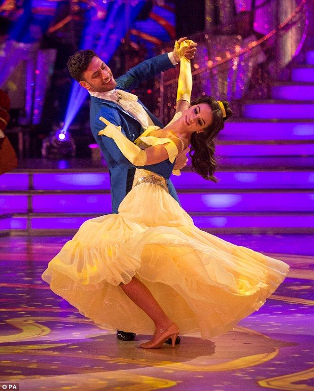 Strictly Come Dancing's Georgia May Foote transforms for Beauty And The Beast dance | Daily Mail Online