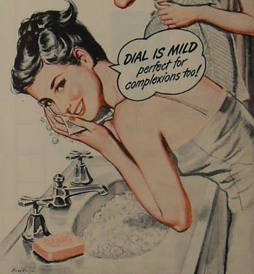 Dial Soap Vintage Ad 1940s -50s