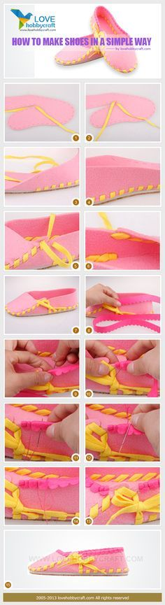 how to make shoes in a simple way
