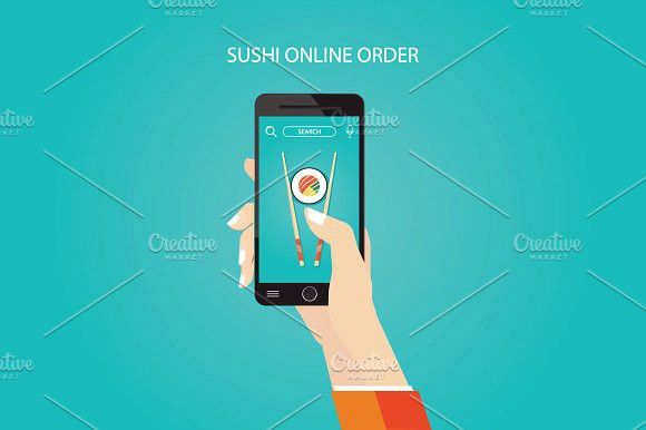 sushi online order. Objects. $9.00