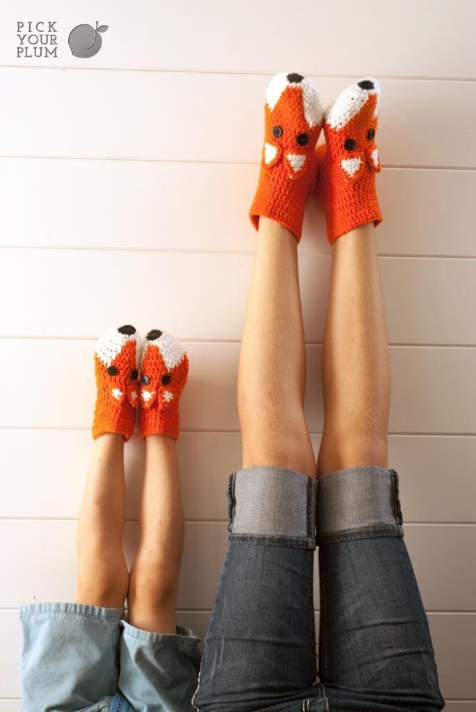 The Big Bad Fox - Crochet Fox Socks