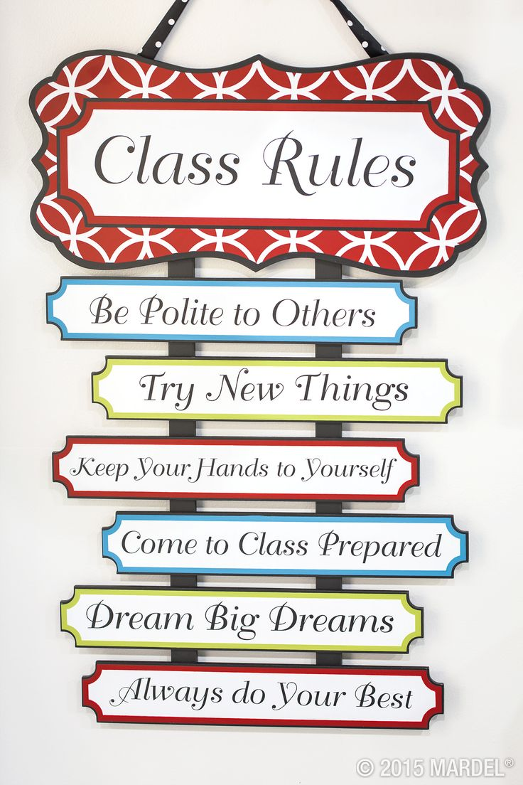 Classroom Rules Decor ~ This class rules sign is new to the isabella collection