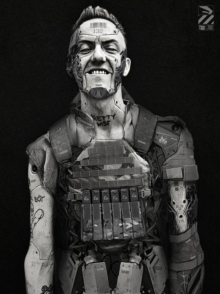 Shadowrun. Human samurai, full cyberlimb conversion. in ...