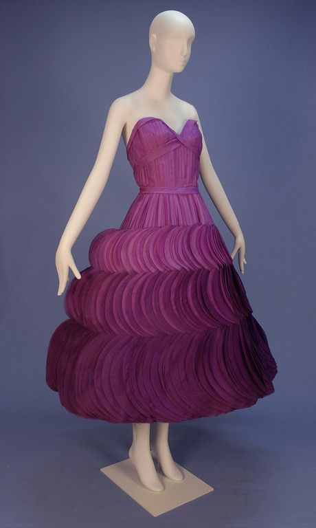 Oh my goodness - what a dress - Jean Desses (Fashion designer born in Egypt, 1904-1970) silk petal dress