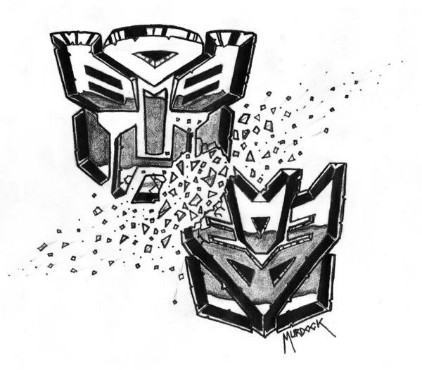 Transformers Tattoo by Demongrinder.deviantart.com on @DeviantArt