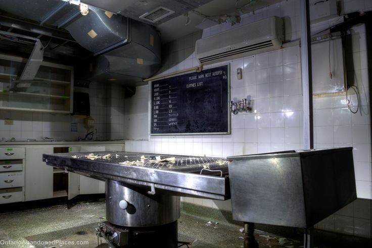 Autopsy room in an abandoned hospital located in Ontario. #ontarioabandonedplaces #abandoned #derelict #decay #ontario #abandoned