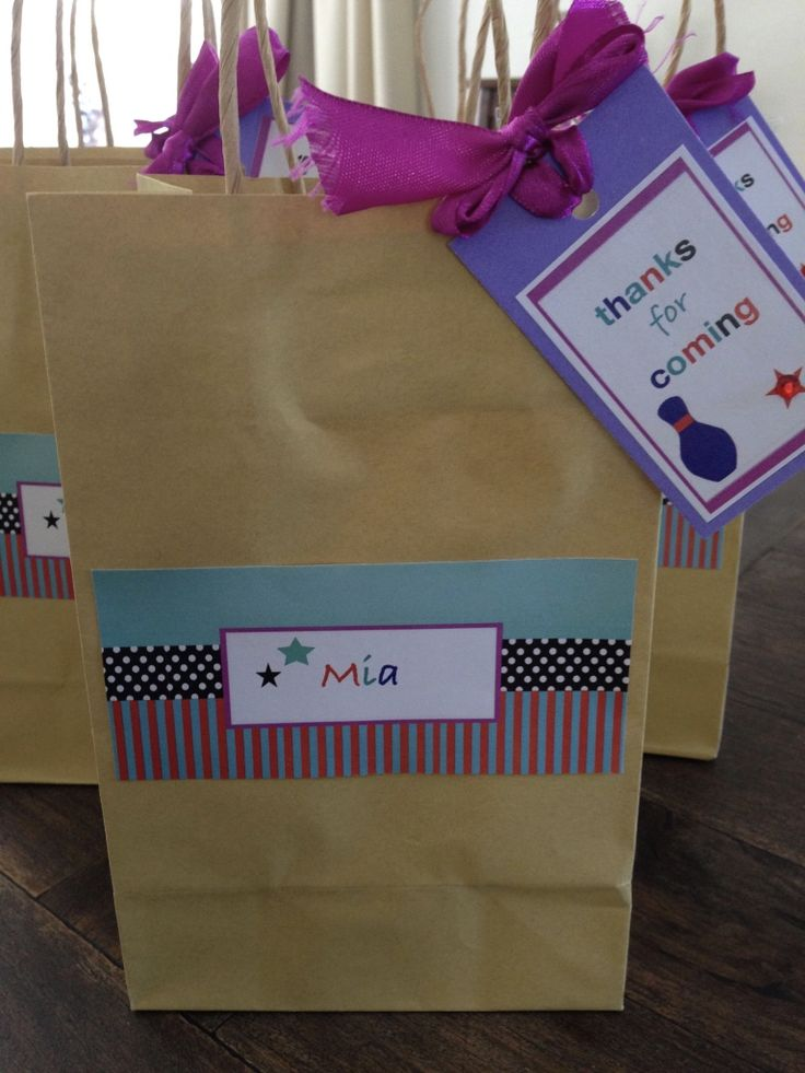 Bowling Party Treat Bags