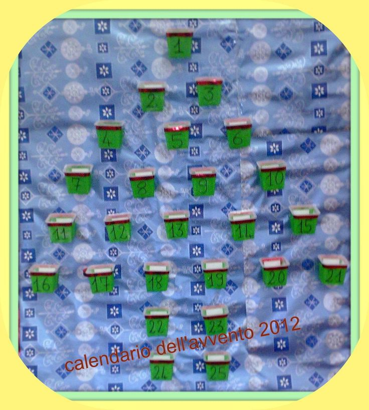 La scuola in cartella: Calendario dell'AVVENTO 2012