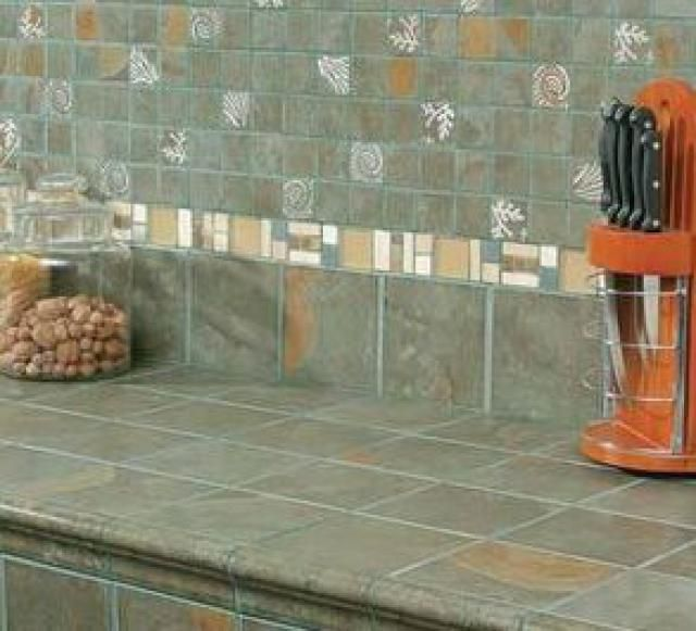 Jaw-Dropping: Unique Kitchen Tile Ideas You'll Want For Your Home: Merging Kitchen Backsplash and Counter Tile