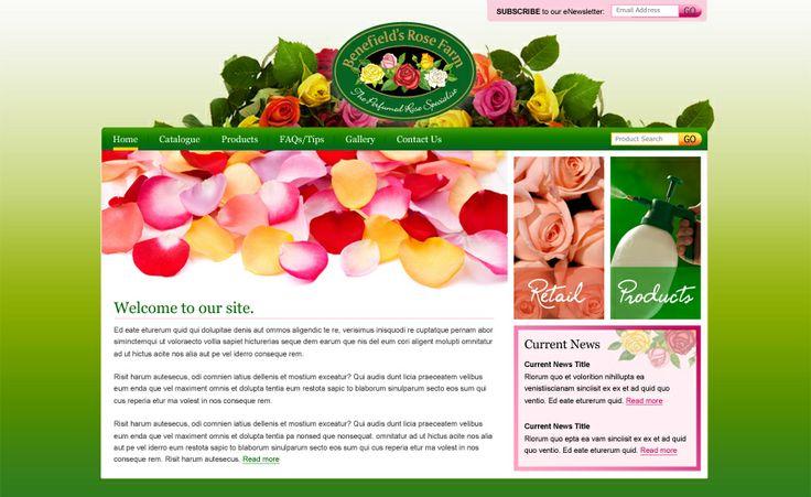 Website design for Benefield's Rose Farm. #websitedesign #webdesign #web #design #graphicdesign #website #websites