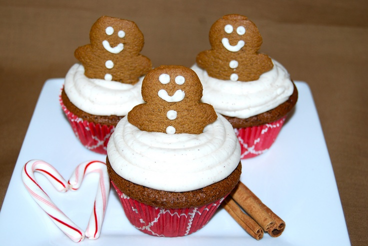 Molasses Ginger Cupcakes | Holiday yums | Pinterest