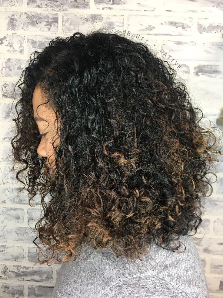 Balayage On Natural Curly Hair Balayage Hair Hair