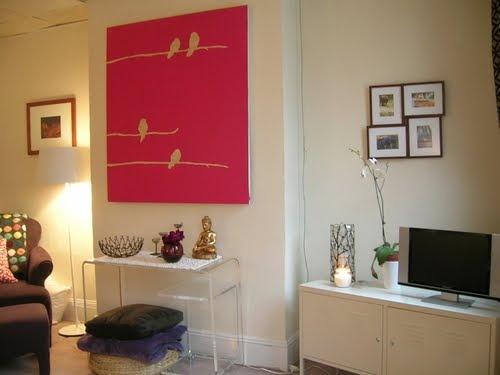 Apartamento Alugado: DIY: Quadro de Passarinhos