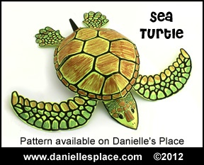 Paper Sea Turtle Craft from www.daniellesplace.com