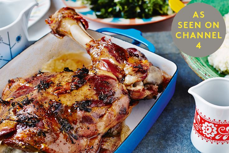 Slow-Roast Lamb from the bestselling cookbook, The Art Of Eating Well. As seen on Channel 4 series, Eating Well With Hemsley + Hemsley, Mondays at 8pm.