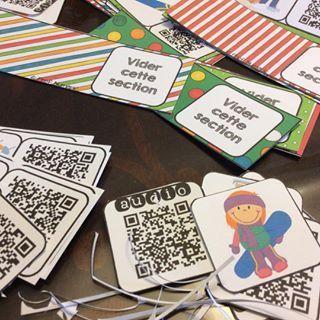 Cartes-tâches avec ou sans CodesQR. Parfait pour les 5 au quotidien ou vos centres de littératie.