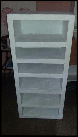 Mueble organizador hecho de cartón | Manualidades