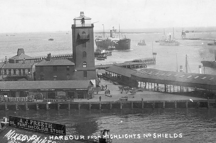 North Shields: The Fish Quay and Low Lights taken from the High Lights, early 20th Century