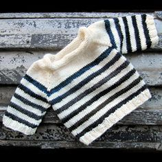 Free Baby Sweater Jumper Knitting Pattern | I love knitting baby things because it's so quick to finish a project. For more easy and free baby knitting ideas, head to http://www.sewinlove.com.au/category/knitting/