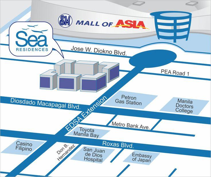 Sea Residences vicinity map