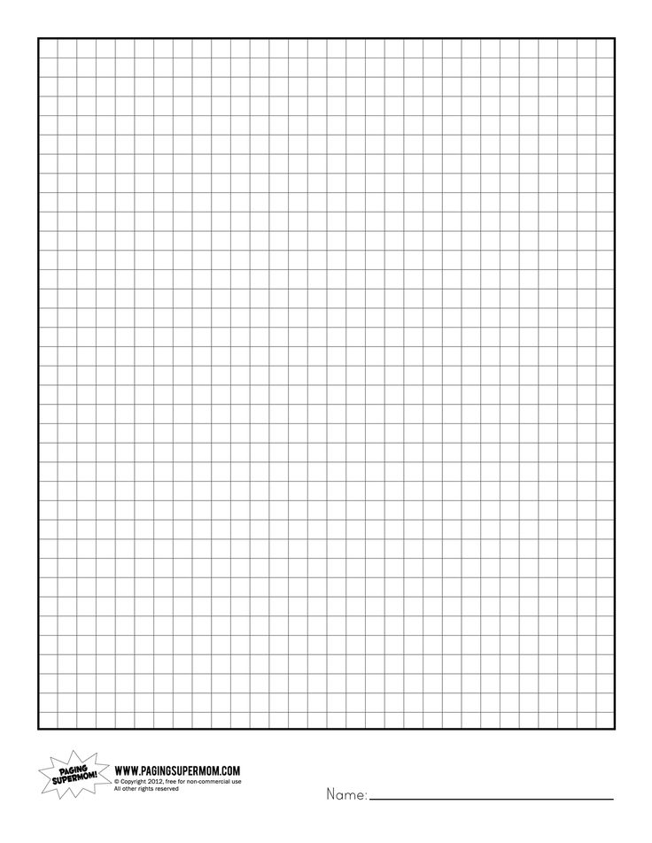 Printable graph paper for preschool Download them and try to solve