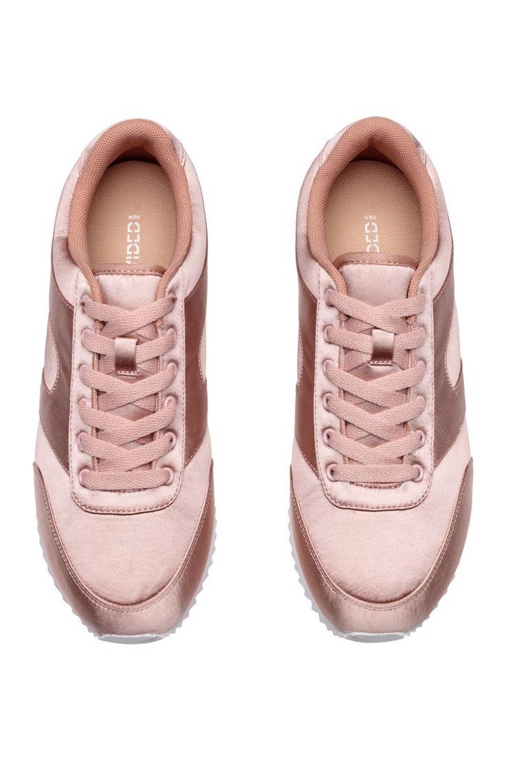 Sneakers i sateng - Pudderrosa - DAME   H&M NO 2