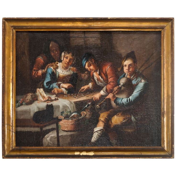Dutch or Flemish Genre Painting, circle of Adriaen Brouwer, circa 1620 | 1stdibs.com