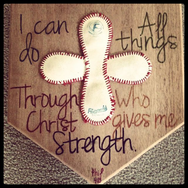 DIY baseball/home plate.... I would love to do this for a bedroom!!  I think I am going too!!! Love this!  I will do the scripture a little differently tho I think...super cute!!