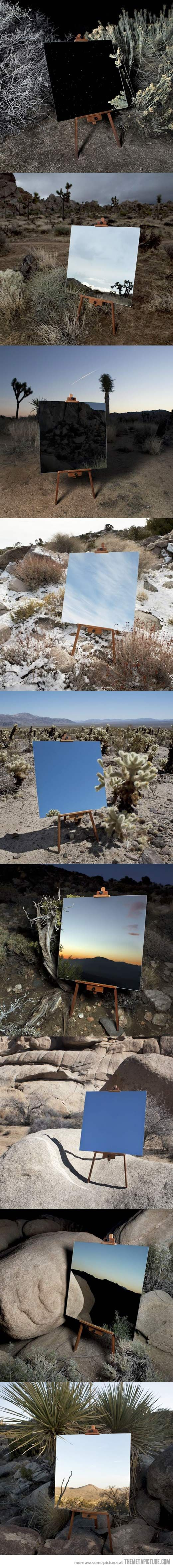 Photographs of a mirror that look like paintings