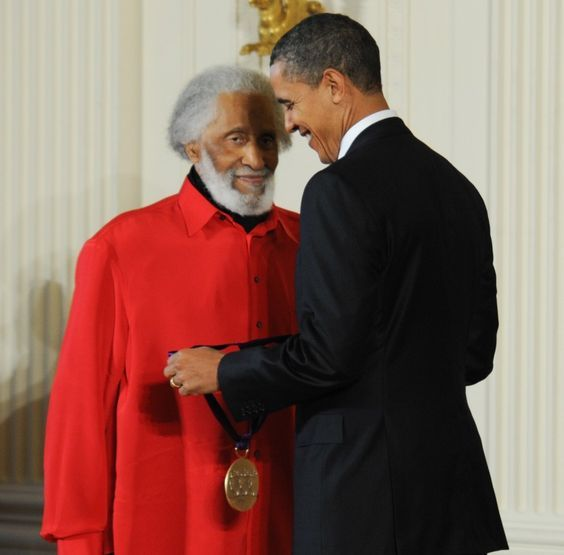 Sonny Rollins and President Barack Obama, White House, March 2, 2011d
