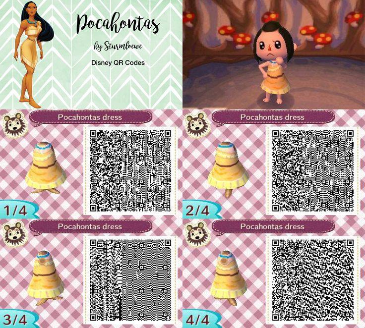 Matrimonio Bohemien Qr Code : Disney pocahontas dress for animal crossing acnl qr code