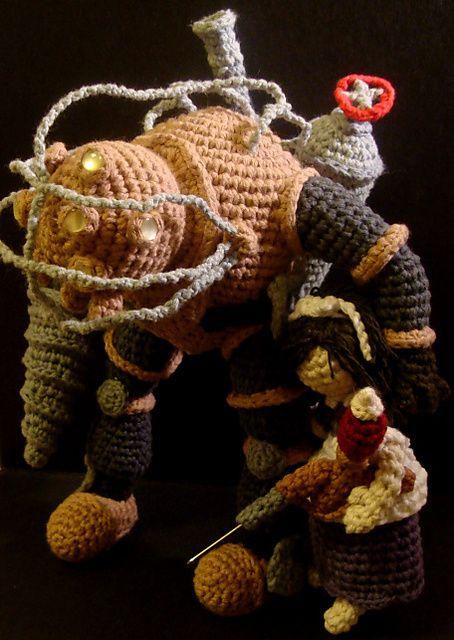 Ravelry: Bioshock - Big Daddy - Bouncer (Amigurumi Crochet) pattern by Emjay Bailey