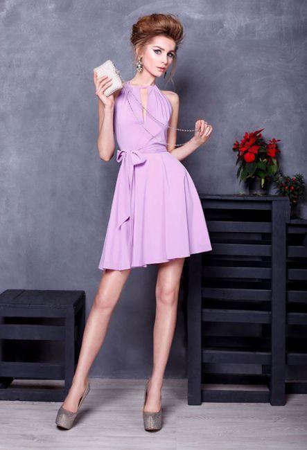 Коктейльное лиловое платье | Purple cocktail dress