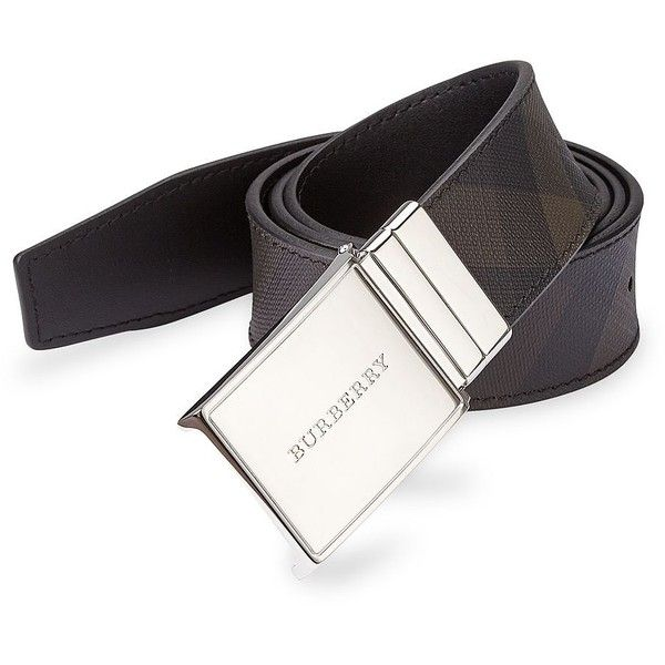 Burberry Signature Plaid Belt (1.265 BRL) ❤ liked on Polyvore featuring men's fashion, men's accessories, men's belts, apparel & accessories, black, burberry mens belt, mens real leather belts, mens belts, mens genuine leather belts and mens leather belts