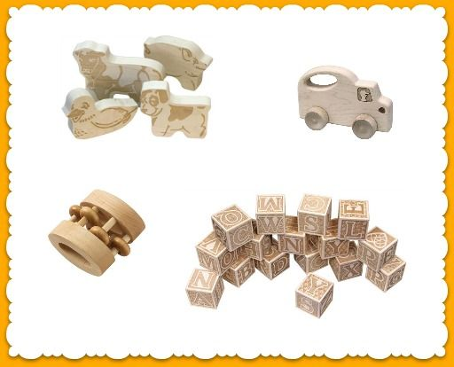 These wooden toys from Maple Landmark would make the perfect accent on a nursery shelf or bookcase! #munire #pinparty #MadeinUSA