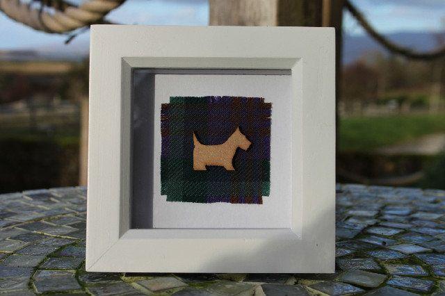 Skye tartan frame with scottie dog (small), £15.00