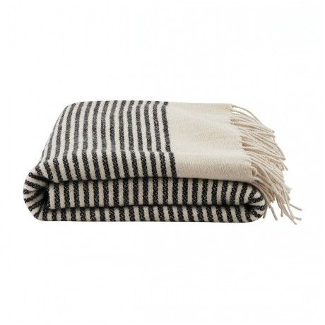 Trouva - Gorgeous wool blanket with a lovely stripe pattern, perfect for cuddling under #TrouvaHandpinnedHomewares