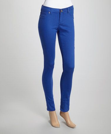 Look what I found on #zulily! Royal Blue Skinny Pants #zulilyfinds
