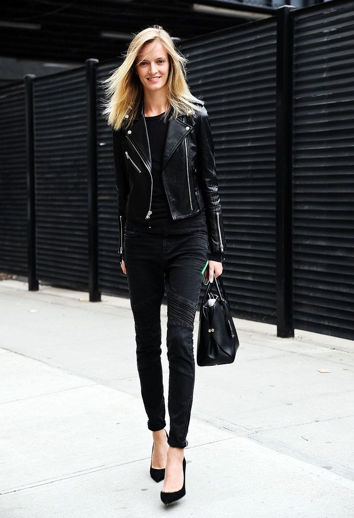 Leather pants and leather jacket