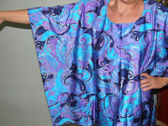 Special Occasion Plus Size Tunic or Dress in brilliant tones