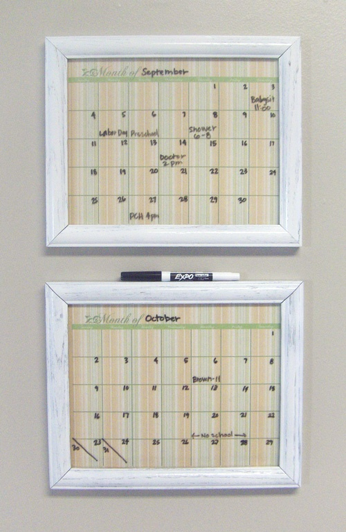 Dry Erase Calendar Template : Best images about house home chalkboards