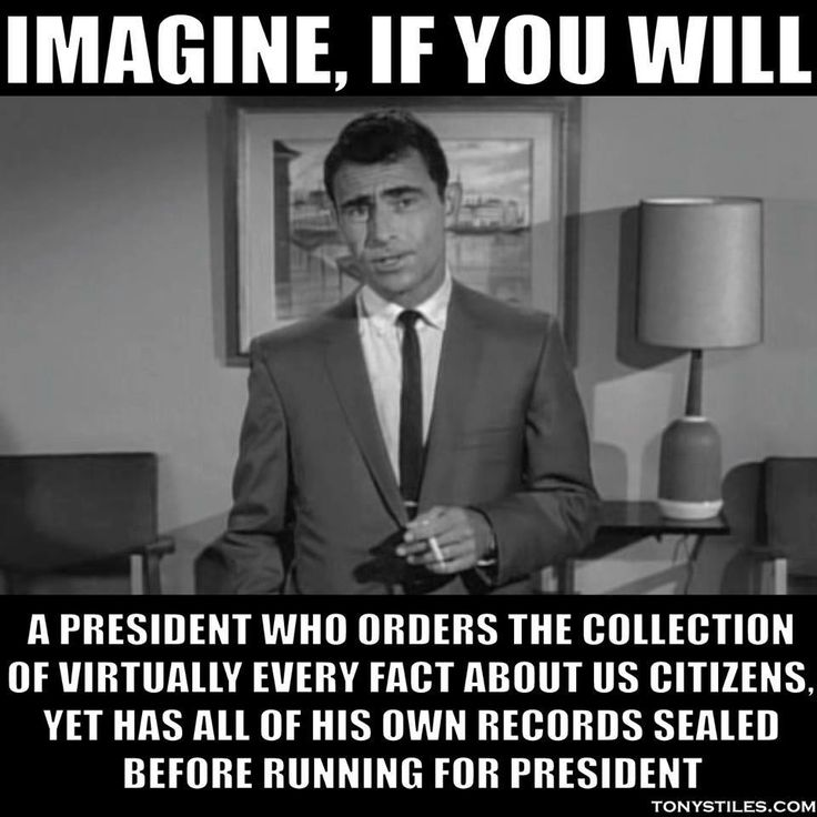 You are now entering the TWILIGHT ZONE, aka the United States of ...