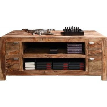 Le meuble TV en bois Authentico vous apporte chaleur et convivialité dans votre salon grâce à son bois de Sheesham.  Meuble TV en bois Authentico Kare Design