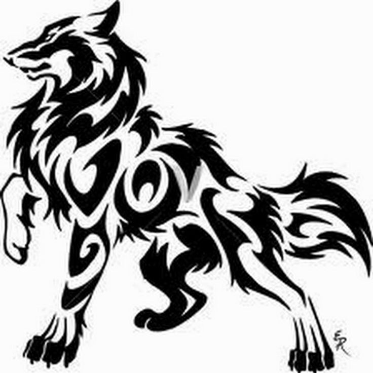Brilliant Tribal Wolf Tattoo Design